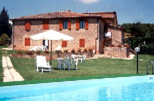 One of the beautiful villas in Tuscany with a swimming pool