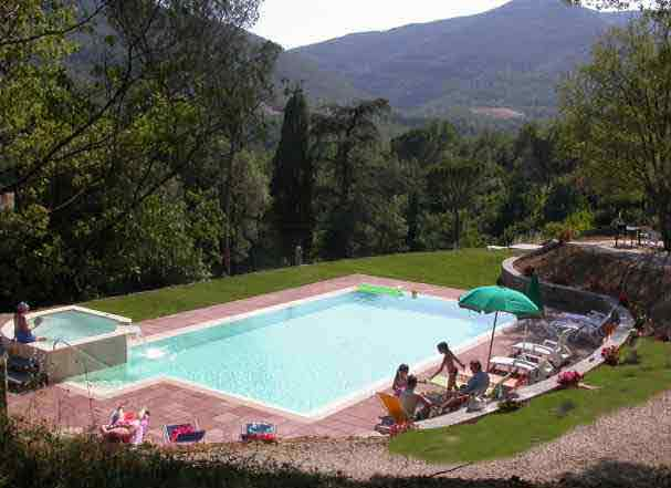 One of the stunning villas in Tuscany with a pool